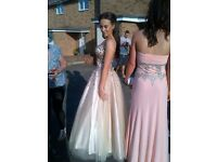 Size 10 champagne coloured prom dress/ball gown