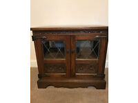 Old Charm TV Cabinet, traditional light oak with traditional fittings
