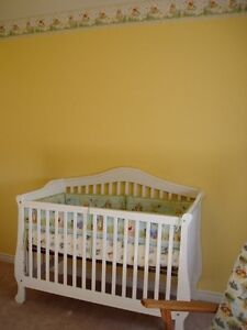 3-1 Stork Craft crib and change table