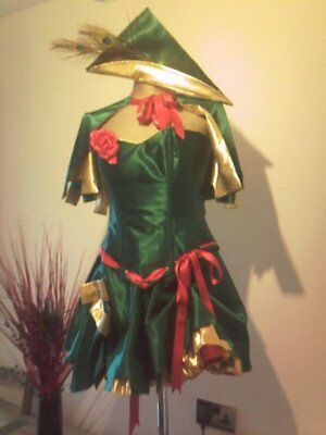 Robina Kapuze Korsett Kostüm mit Cape Robin Korsett Damen