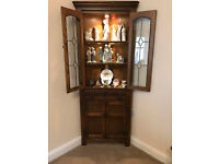 Old Charm corner unit, traditional light oak (Rustic grade) with traditional fittings and light