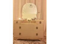 VINTAGE DRESSING TABLE - GLAMOROUS CHIC - NOT SHABBY CHIC