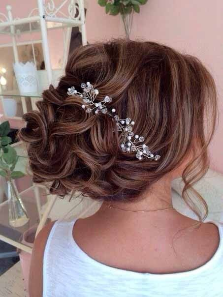 Bridal Crystal & Pearl Wedding Proms Hair Vine Comb Headband Pin Headpiece