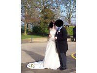 Pronovias Odeon ivory wedding dress size 8