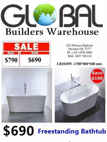 $690 - freestanding bathtub | ph 03******8888 | building materials
