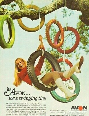 1969 Avon Motorcycle Tires...for a swinging tire - Vintage Ad