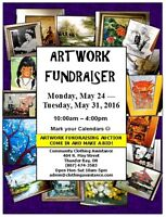 Artwork Fundraiser  May 24-31 at Community Clothing Assistance