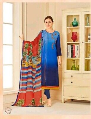 $59.99 Indian designer Stitched Bollywood  Churidar  Salwar Kameez suit~Bust 38M ()