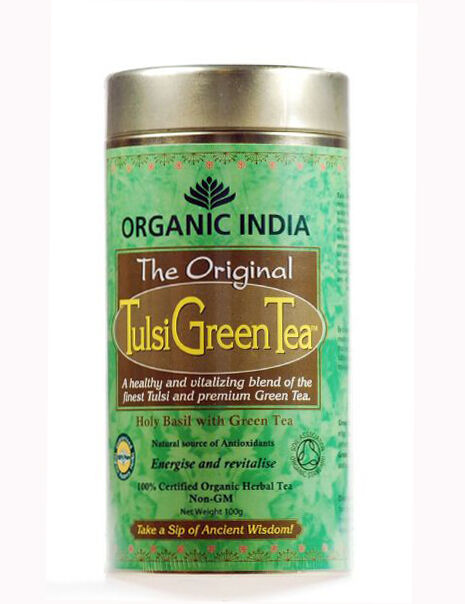 Organic India Original Tulsi GREEN Tea - 100gm TIN