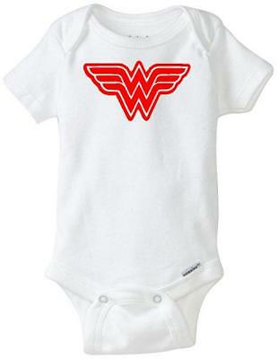 DC Comics Wonder Woman Custom Gerber Onesie infant-toddler Free Shipping
