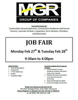 JOB FAIR for ALL positions MGR Construction Services