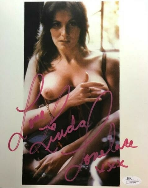 Tragic Adult Actress LINDA LOVELACE In-Person Signed Photo - DEEP THROAT - JSA