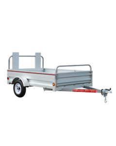 Galvanized Utility Trailer, 5 x 7-ft For Sale