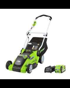 Greenworks 40V Lithium  Lawn Mower, 16-in