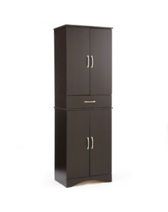 Black Pantry - 4 Door Pantry with Drawer
