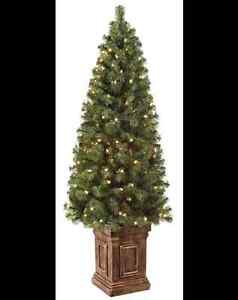 NOMA Pre-Lit Potted ChristmasTree, 5-ft