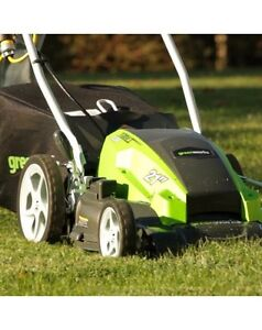 New Electric 21in 13A Greenworks Mower Kitchener / Waterloo Kitchener Area image 1