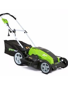 New Electric 21in 13A Greenworks Mower Kitchener / Waterloo Kitchener Area image 3
