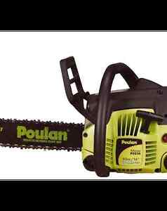 BRAND NEW Poulan 33cc Gas Chainsaw, 14-in