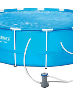 Hydro-Force Steel Pro Round Frame Pool, 15 x 48-in