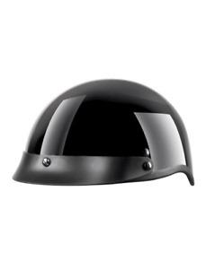 VCAN Shorty Classic Half-Shell Cruiser Helmet, Black