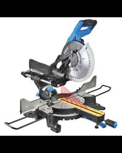 Mastercraft Dual-Bevel Sliding Mitre Saw, 10-in With Stand