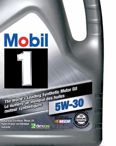 Mobil 1 5W30 Synthetic Motor Oil 4.4L