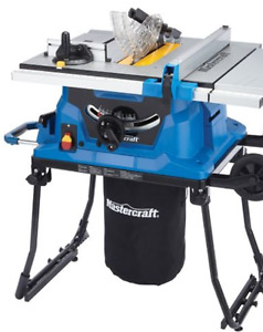 New Mastercraft Portable Table Saw, 15A with Fold and Roll Stand