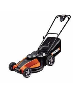 24V WORX POWER TANK CORDLESS LAWN MOWER 17 IN USED ONLY 2 TIMES