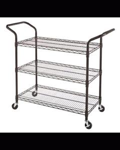 BNIB Stainless Steel 3 Tier Utility Cart