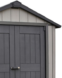 New Vinyl outdoor storage shed with floor  7 feet X 7 feet