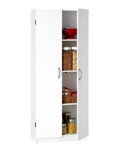 White 2-door Storage Cabinet - 2 Available