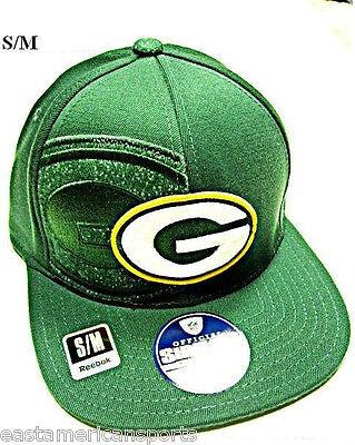 Green Bay Packers NFL Reebok Sideline Flat Visor Logo Hat Cap Flex Fitted (Green Sideline Flat)