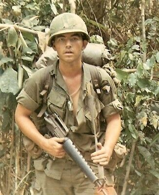 Vietnam War U.S. Army 101st Airborne Patrol 1968 High Gloss Grainey 8.5x11 Photo