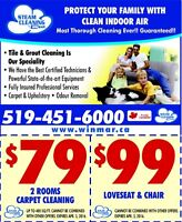 Carpet Cleaning. Steam Cleaning By Winmar, London, ON