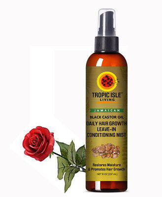 Tropic Isle Black Castor Oil Daily Hair Growth Leave-in Conditioning Mist - 8oz ()