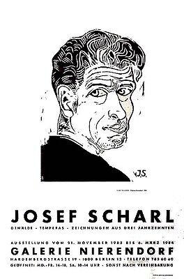 SELBSTBILDNIS Josef SCHARL - Original Holzschnitt 1935