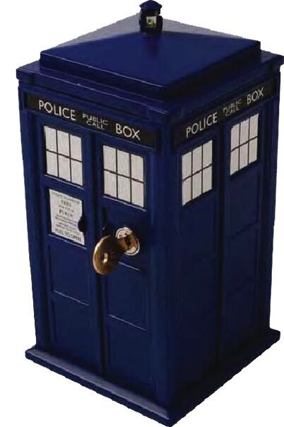 DOCTOR WHO TARDIS Lock Up Safe Money Box with key light+sound effects dr who NEW