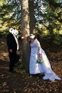 Wedding dress size 20 to 24  corset back