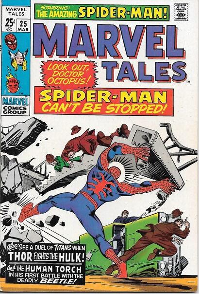 Marvel Tales Comic Book #25 Marvel Comics 1970 VERY FINE-