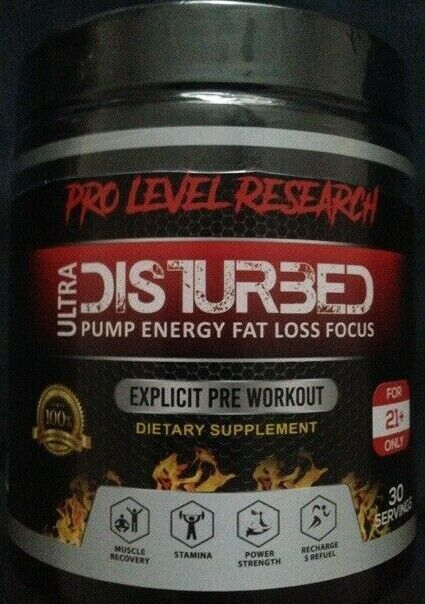 Pro Level Research - DISTURBED Ultra Thermogenic Pre Workout