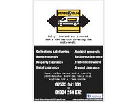 MAN & VAN - 07535041331 - Rubbish removal / House clearance / Collections & deliveries / Removals