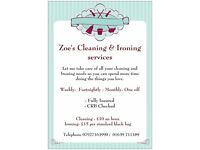 Zoe's Cleaning and Ironing services