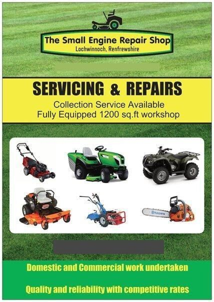 LAWNMOWER, GARDEN MACHINERY, QUADS and PLANT REPAIR AND
