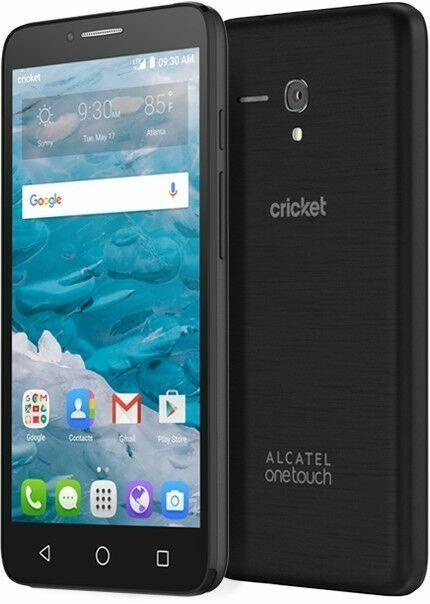 Alcatel OneTouch Flint - 16GB - Black (Cricket) Smartphone