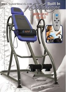 LUXOR HEALTH LH-1 Inversion table w/mas & heat ON SALE $249.00