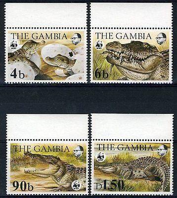 GAMBIA WORLD WILDLIFE FUND CROCODI LES SC#515/18   SG#544/47   MINT NH