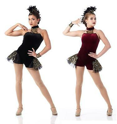 The Royal Ballet Dance Costume Jazz Funky Contemporary Girls CS-Adult 2XL Tutu
