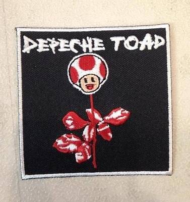 DEPECHE TOAD EMBROIDERED IRON ON PATCH BY TOXIC TOAST RECORDS