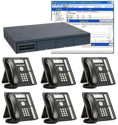 Avaya Ip500 V2 Digital Voip Phone System Package W6 1416 Phones